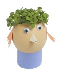 children's egg head craft