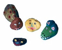 painted rocks - crafts for kids
