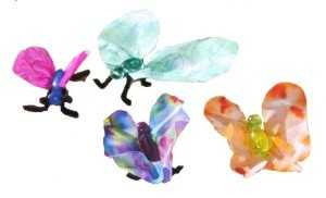 butterflies made by children