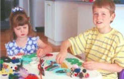 kids making craft projects