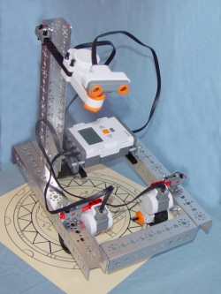 robot with LEGO Mindstorms and Tetrix