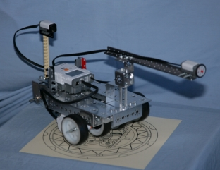 Tetrix robot using compass sensor
