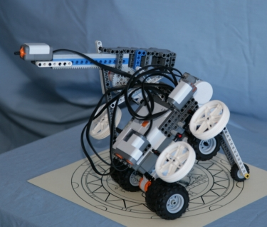 LEGO robot to drive down a tunnel