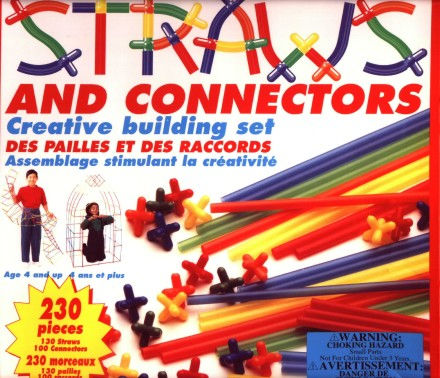 childrens crafts package - straws and connectors